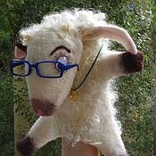 """Куклы и игрушки ручной работы. Ярмарка Мастеров - ручная работа Игрушка бибабо """"Овечка Аглая"""". Handmade."""