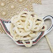 Материалы для творчества handmade. Livemaster - original item Accessories for embroidery: Chenille 5 mm polyester Ivory 1 meter. Handmade.