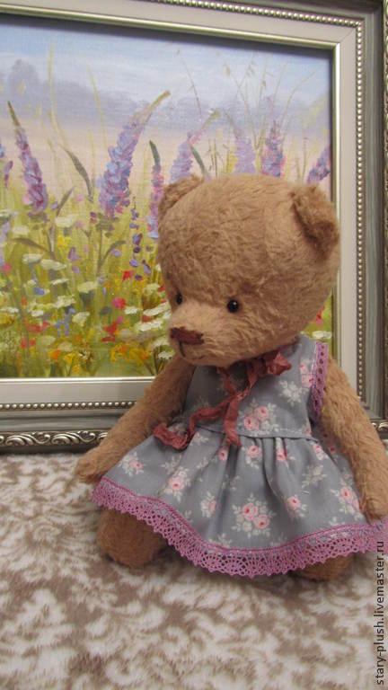 """Мишки Тедди ручной работы. Ярмарка Мастеров - ручная работа. Купить Мишка """"Виоллета"""". Handmade. Мишка тедди, плюш винтажный"""