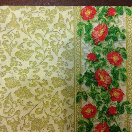 Салфетка для декупажа - винтажный узор и цветочный орнамент Декупажная радость