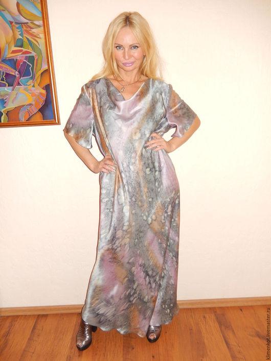 Платья ручной работы. Ярмарка Мастеров - ручная работа. Купить платье Жемчужный блеск. Handmade. Абстрактный, большие размеры, подарок