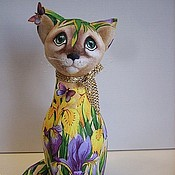 Куклы и игрушки ручной работы. Ярмарка Мастеров - ручная работа кошки-сестрички Ириска и Ирис. Handmade.