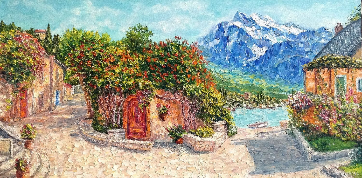Oil painting 'Sunny patio'. oil on canvas flowers, Pictures, Chelyabinsk,  Фото №1