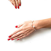 """Украшения handmade. Livemaster - original item Браслет """"Феерия""""браслет с жемчугом,браслет с фианитом,браслет подарок. Handmade."""
