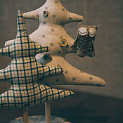 Подарки к праздникам ручной работы. Ярмарка Мастеров - ручная работа Текстильные ели. Handmade.