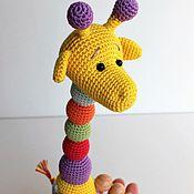 """Куклы и игрушки ручной работы. Ярмарка Мастеров - ручная работа Погремушка """"Жираф"""".. Handmade."""