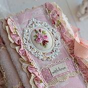 Блокноты ручной работы. Ярмарка Мастеров - ручная работа Розовый романтический блокнот ручной работы. Handmade.