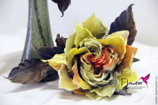 """Цветы ручной работы. Ярмарка Мастеров - ручная работа. Купить Цветы из шелка. Интерьерные розы из шелкового бархата - """"Autumn"""". Handmade."""