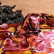 Аксессуары handmade. Livemaster - original item Silk scarf batik Autumn waltz. Handmade.