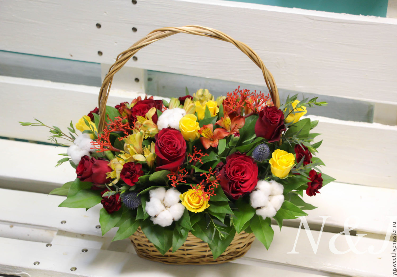 Фото цветами в корзинках