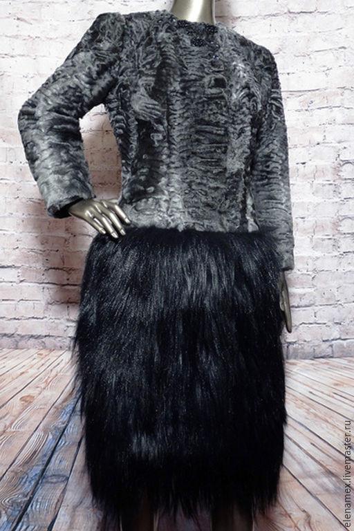 Верхняя одежда ручной работы. Ярмарка Мастеров - ручная работа. Купить Пальто из каракуля и яка.. Handmade. Купить шубу, шуба