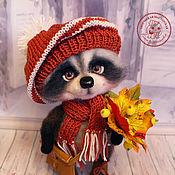 Куклы и игрушки handmade. Livemaster - original item Raccoon felted Ignat Raccoon felted wool Toy, wool. Handmade.