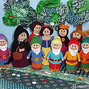 """Куклы и игрушки ручной работы. Ярмарка Мастеров - ручная работа Пальчиковый театр """"Белоснежка и семь гномов"""". Handmade."""