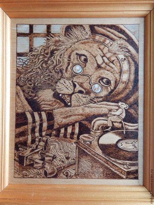 """Фэнтези ручной работы. Ярмарка Мастеров - ручная работа. Купить Картина """"Душевный разговор"""". Handmade. Коричневый, мышонок, картина в детскую"""