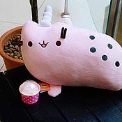Мягкие игрушки ручной работы. Ярмарка Мастеров - ручная работа Розовый плюшевый морской пушин. Handmade.