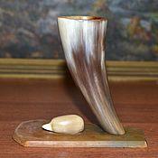 Винтаж handmade. Livemaster - original item Stand HEDGEHOG IN the FOREST, horn of the USSR. Handmade.