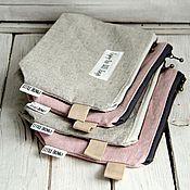 Сумки и аксессуары handmade. Livemaster - original item Zipper Pouch - Enjoy the little things - Textile Cosmetic Bag. Handmade.