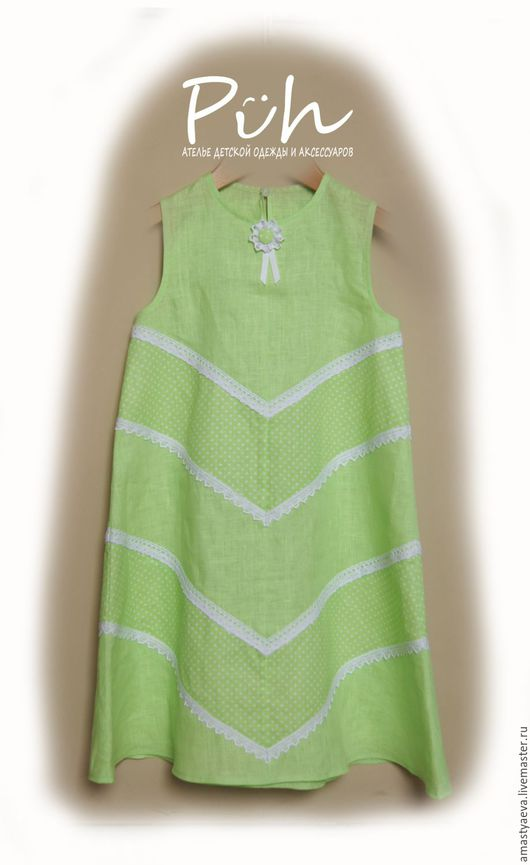 Одежда для девочек, ручной работы. Ярмарка Мастеров - ручная работа. Купить Платье для девочки. Handmade. Салатовый, платье летнее