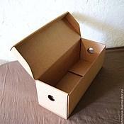 """Материалы для творчества ручной работы. Ярмарка Мастеров - ручная работа коробка """"Простая-8"""" 43х16х16см  длинная крафт. Handmade."""
