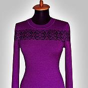 Одежда ручной работы. Ярмарка Мастеров - ручная работа Фиолетовое платье. Handmade.