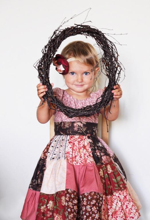 """Одежда для девочек, ручной работы. Ярмарка Мастеров - ручная работа. Купить Платье для девочки """"Шоколад"""". Handmade. Цветочный, лоскутное платье"""