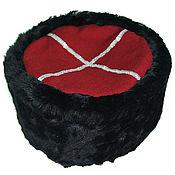 Шапки ручной работы. Ярмарка Мастеров - ручная работа Кубанка казачья из овчины с красным верхом. Handmade.