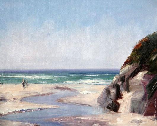 Пейзаж ручной работы. Ярмарка Мастеров - ручная работа. Купить Морской пейзаж - картина ручной работы маслом на холсте. Handmade.