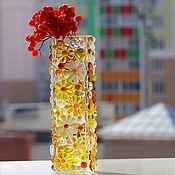 Для дома и интерьера ручной работы. Ярмарка Мастеров - ручная работа ваза из стекла, фьюзинг  Вечное цветение. Handmade.