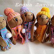 Куклы и игрушки ручной работы. Ярмарка Мастеров - ручная работа Кофейный зайчик со снежком.. Handmade.