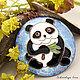 """Кулоны, подвески ручной работы. Ярмарка Мастеров - ручная работа. Купить Кулон """"Панда"""". Handmade. Голубой, мишка панда, китай"""