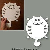 """Для дома и интерьера ручной работы. Ярмарка Мастеров - ручная работа подставка под горячее """"кот в полосочку"""". Handmade."""