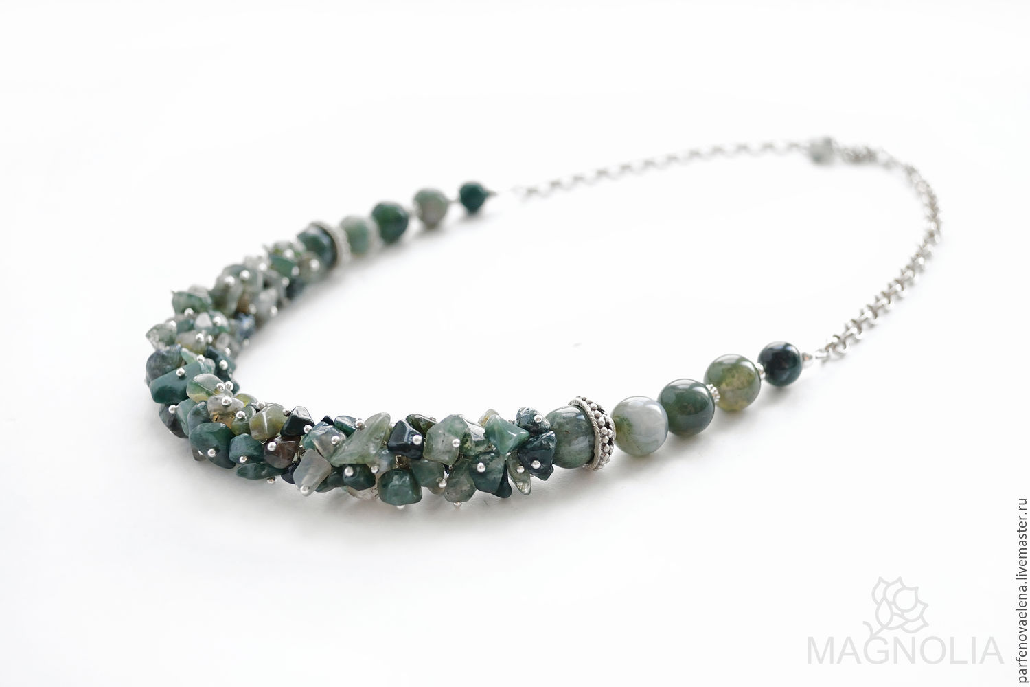Necklace 'Icelandic moss', Necklace, Omsk,  Фото №1