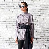 Одежда ручной работы. Ярмарка Мастеров - ручная работа Дизайнерская рубашка, длинная рубашка. Handmade.