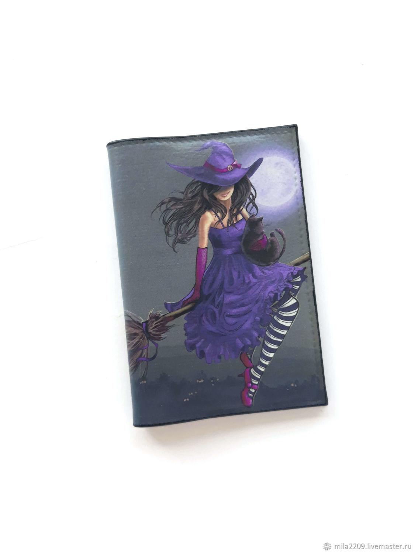 Ведьмочки Обложка для паспорта/автодокументов из натуральной кожи, Обложка на паспорт, Курган,  Фото №1