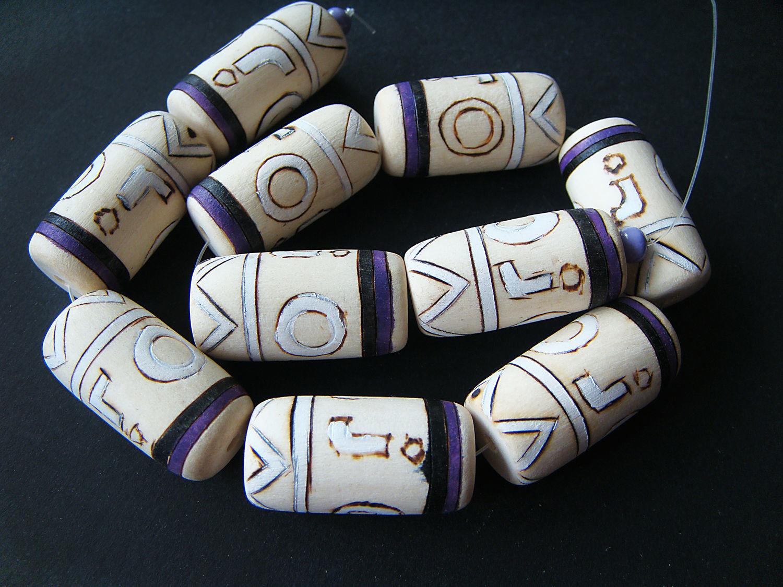 White wood artistic beads 30h18mm, Beads1, Bryansk,  Фото №1