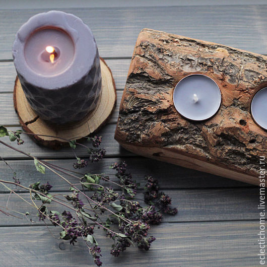 Подсвечники ручной работы. Ярмарка Мастеров - ручная работа. Купить Подсвечники на 5 свечей. Handmade. Серый, русский стиль