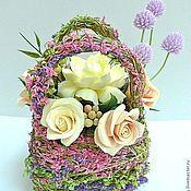 Цветы и флористика ручной работы. Ярмарка Мастеров - ручная работа Декоративная цветочная сумочка. Handmade.