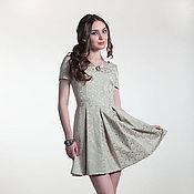 Одежда ручной работы. Ярмарка Мастеров - ручная работа 242: коктейльное мини платье из жаккарда, молодежное платье мини. Handmade.