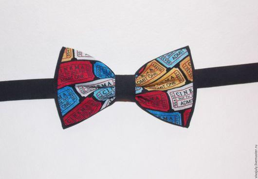 """Галстуки, бабочки ручной работы. Ярмарка Мастеров - ручная работа. Купить Галстук - бабочка """"Билетик в кино"""". Handmade. Черный, галстук"""