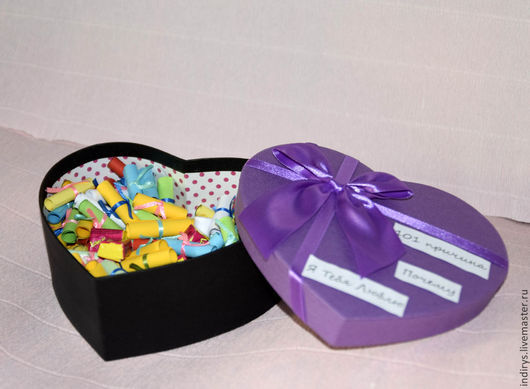 Подарки для влюбленных ручной работы. Ярмарка Мастеров - ручная работа. Купить Коробка 101 причина почему я тебя люблю. Handmade.