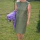 """Платья ручной работы. Ярмарка Мастеров - ручная работа. Купить Платье нуновойлок """" Dried Herb"""" продано. Handmade. Хаки"""