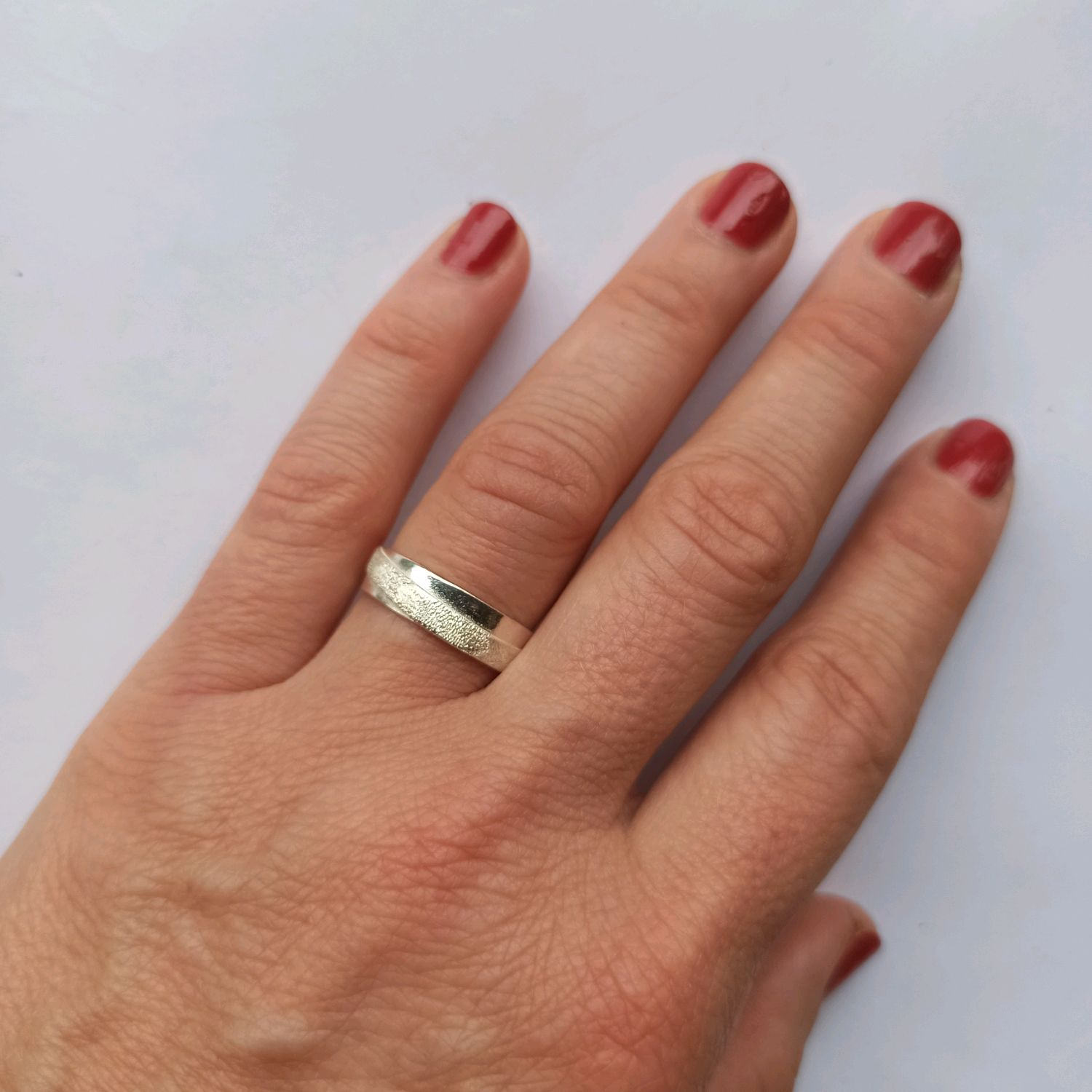 Silver ring with a matte stripe. Ring for each day, Rings, Turin,  Фото №1