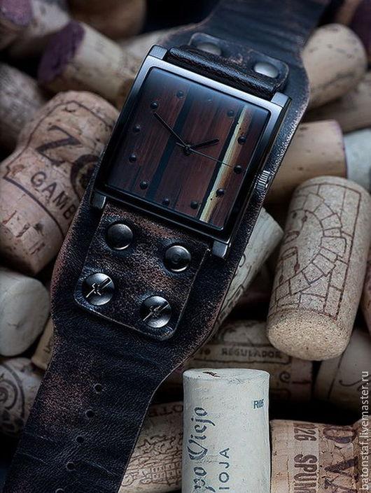 """Часы ручной работы. Ярмарка Мастеров - ручная работа. Купить Часы наручные, кожаный браслет - """"Часовщик рисовал"""".. Handmade."""