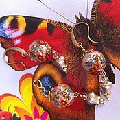 Украшения ручной работы. Ярмарка Мастеров - ручная работа Комплект с бусинами ТЕНША. Handmade.