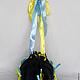 Женские сумки ручной работы. Заказать Круглая сумочка с лентами (синяя). Мария Корниенко (CrimeaGift). Ярмарка Мастеров. Тёмно-синий