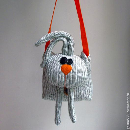 Сумочка своими руками. Ярмпрка мастеров - ручная работа. Купить сумочку зайчик для ребенка. Handmade. Сумочка на длинной ручке. Сумка зайчик.