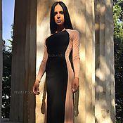 Одежда ручной работы. Ярмарка Мастеров - ручная работа Платье в пол Силуэт. Handmade.
