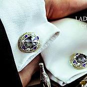 Украшения handmade. Livemaster - original item Men`s cufflinks. Nazar. Cufflinks for men. jewelry for men. Handmade.