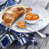 Картины и панно ручной работы. Ярмарка Мастеров - ручная работа Французский завтрак. Handmade.
