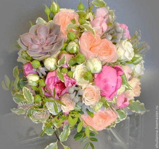 """Свадебные цветы ручной работы. Ярмарка Мастеров - ручная работа. Купить свадебный букет для невесты """"ЕКАТЕРИНА"""". Handmade. Свадьба"""